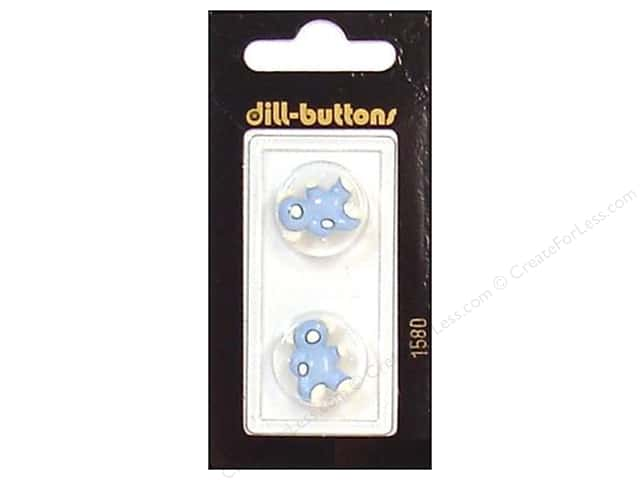 Dill Shank Buttons 11/16 in. Blue/White Bear #1580 2pc.