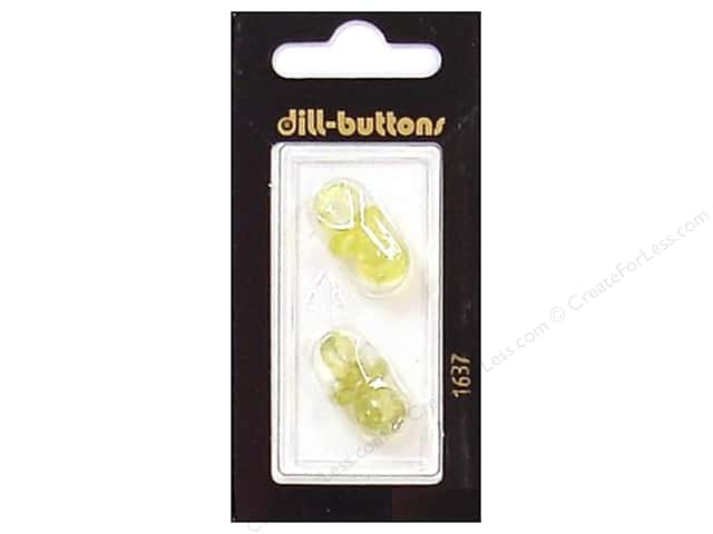 Dill Shank Buttons 7/8 in. Yellow Pacifier #1637 2 pc.