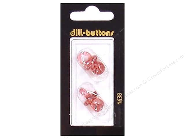 Dill Shank Buttons 7/8 in. Red Pacifier #1638 2pc.