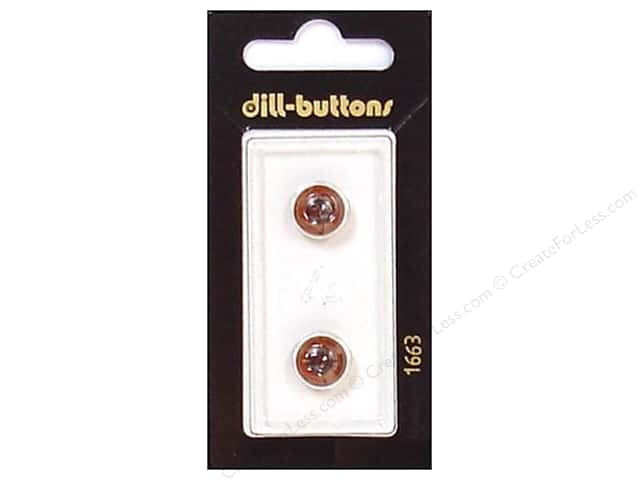 Dill Shank Buttons 3/8 in. Brown Eye #1663 2pc.