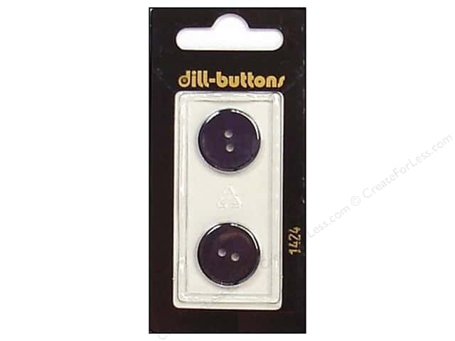 Dill 2 Hole Buttons 11/16 in. Blue #1424 2pc.