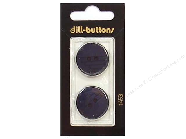 Dill 2 Hole Buttons 7/8 in. Navy #1453 2pc.