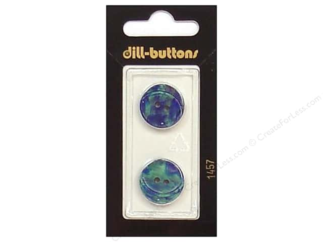 Dill 2 Hole Buttons 11/16 in. Blue Green #1457 2pc.