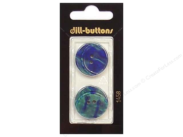 Dill 2 Hole Buttons 7/8 in. Blue Green #1458 2pc.