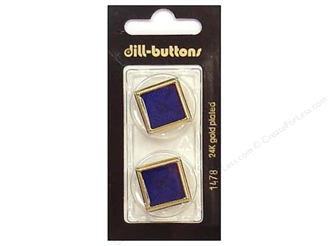 Dill Shank Buttons 1 in. Enamel Navy/Gold #1478 2pc.