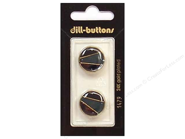 Dill Shank Buttons 11/16 in. Enamel Navy/Gold #1479 2pc.