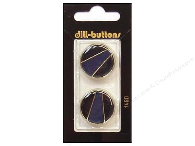 Dill Shank Buttons 7/8 in. Enamel Navy/Gold #1480 2pc.
