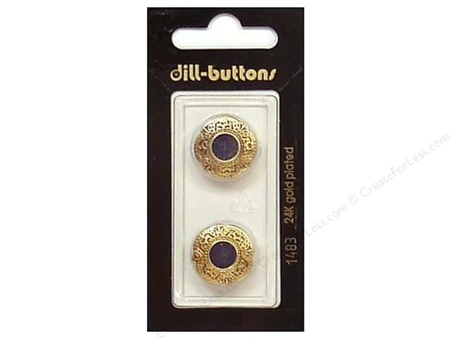 Dill Shank Buttons 11/16 in. Enamel Navy/Gold #1483 2pc.