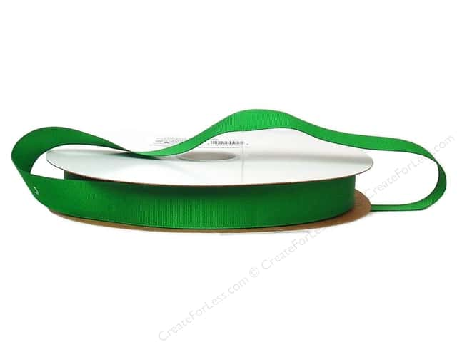 Offray Grosgrain Ribbon 7/8 in. x 100 yd. Emerald (100 yards)