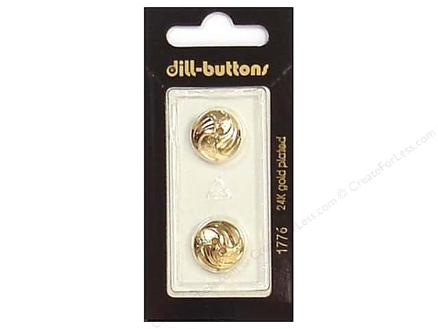 Dill 2 Hole Buttons 5/8 in. Gold #1776 2pc.