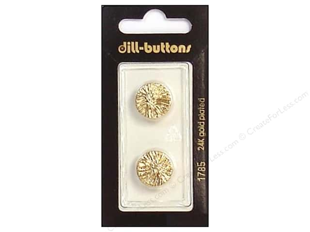 Dill Shank Buttons 5/8 in. Gold #1785 2pc.