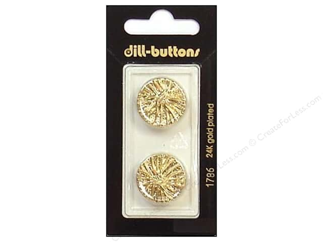 Dill Shank Buttons 13/16 in. Gold #1786 2pc.