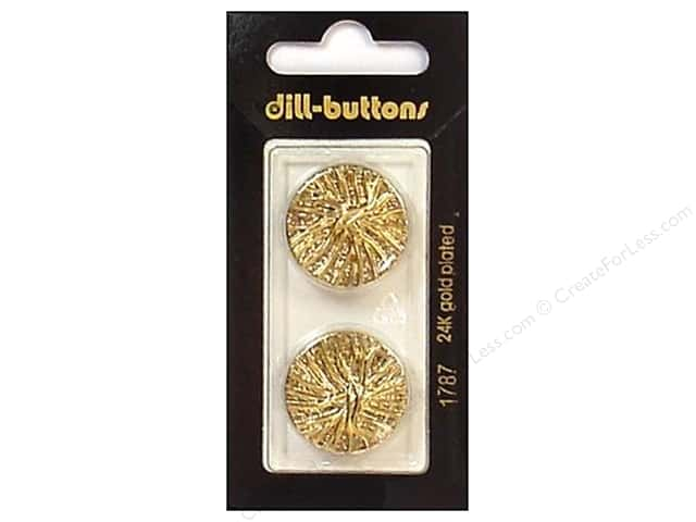 Dill Shank Buttons 7/8 in. Gold #1787 2 c.