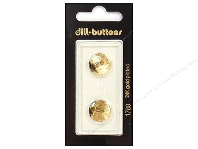 Dill 2 Hole Buttons 9/16 in. Gold #1788 2pc.