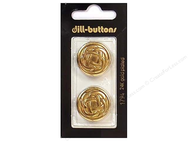 Dill Shank Buttons 7/8 in. Antique Gold Metal #1794 2pc.