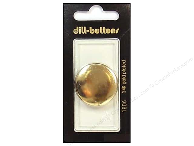 Dill Shank Buttons 1 1/8 in. Gold Metal #1806 1pc.