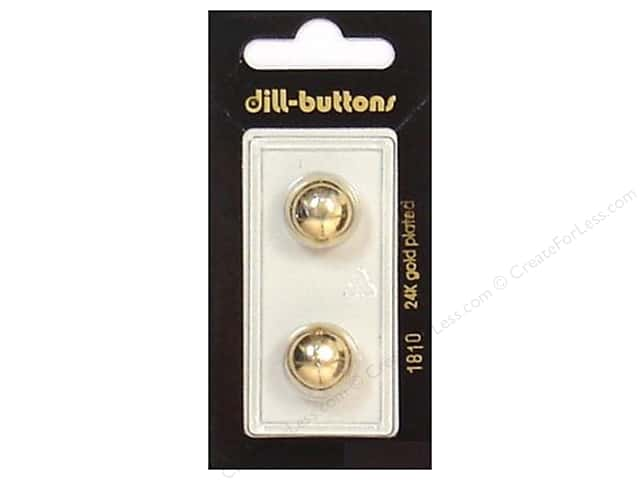 Dill Shank Buttons 9/16 in. Gold #1810 2pc.