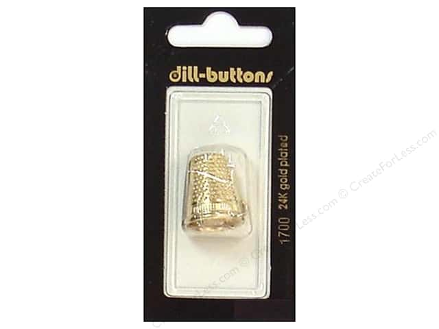 Dill Buttons 13/16 in. Gold Thimble Charm #1700 1pc.