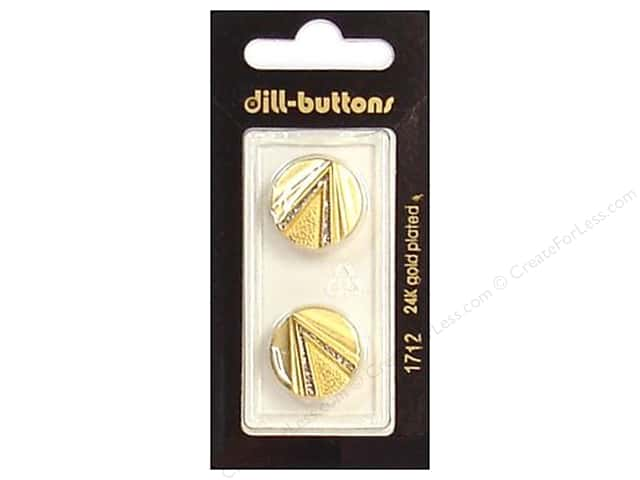Dill Shank Buttons 11/16 in. Enamel Matte Gold #1712 2pc.