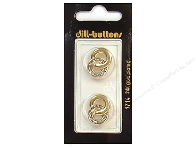 Dill Shank Buttons 13/16 in. Gold #1714 2 pc.