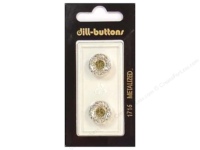 Dill Shank Buttons 9/16 in. Silver #1716 2pc.