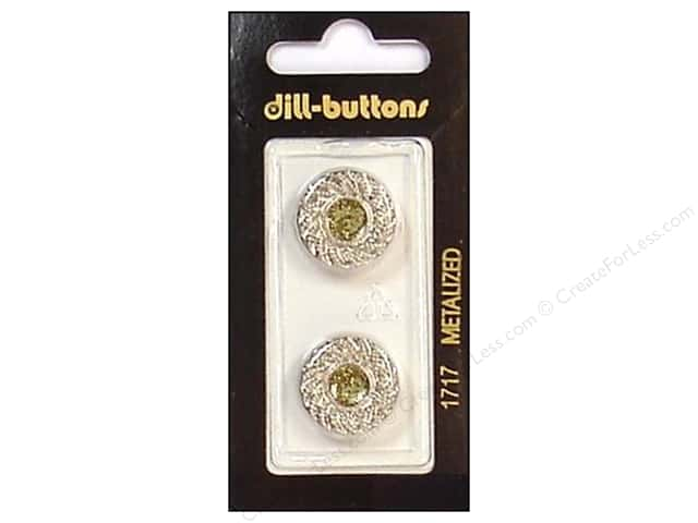 Dill Shank Buttons 11/16 in. Silver #1717 2 pc.