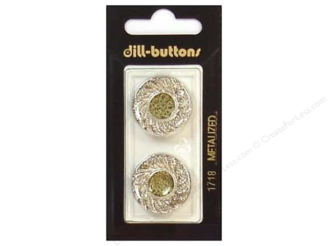 Dill Shank Buttons 7/8 in. Silver #1718 2pc.