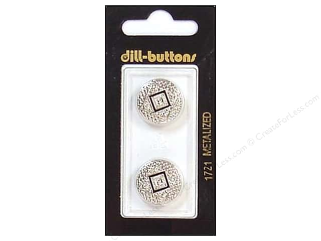 Dill Shank Buttons 11/16 in. Enamel Silver #1721 2pc.