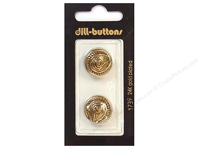 Dill Shank Buttons 11/16 in. Antique Gold Metal #1739 2pc.