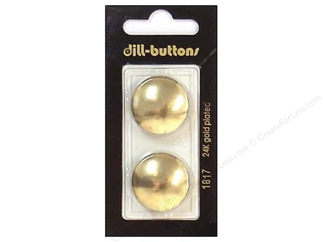 Dill Shank Buttons 7/8 in. Gold #1817 2pc.