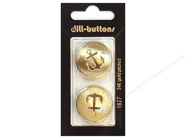 Dill Shank Buttons 1 in. Gold #1827 2pc.