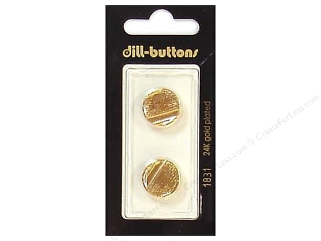 Dill Shank Buttons 5/8 in. Gold #1831 2pc.