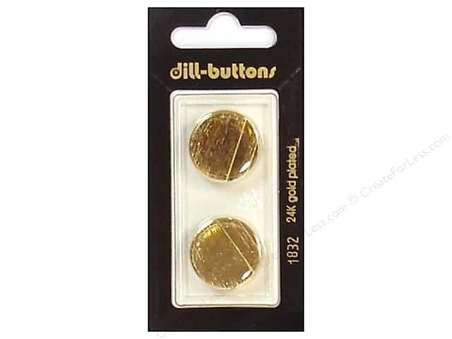 Dill Shank Buttons 13/16 in. Gold #1832 2pc.