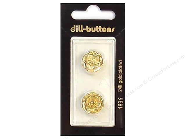 Dill Shank Buttons 5/8 in. Gold #1836 2pc.