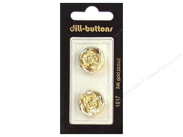 Dill Shank Buttons 11/16 in. Gold #1837 2pc.