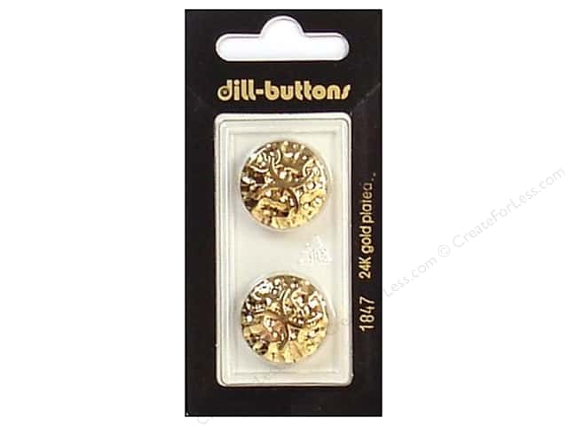 Dill Shank Buttons 13/16 in. Gold #1847 2pc.