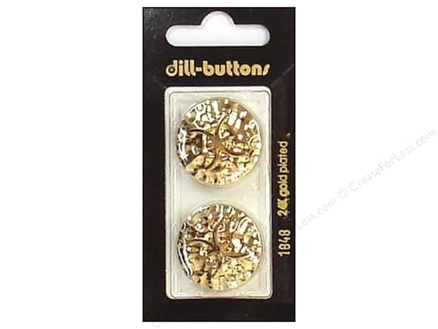 Dill Shank Buttons 1 in. Gold #1848 2pc.