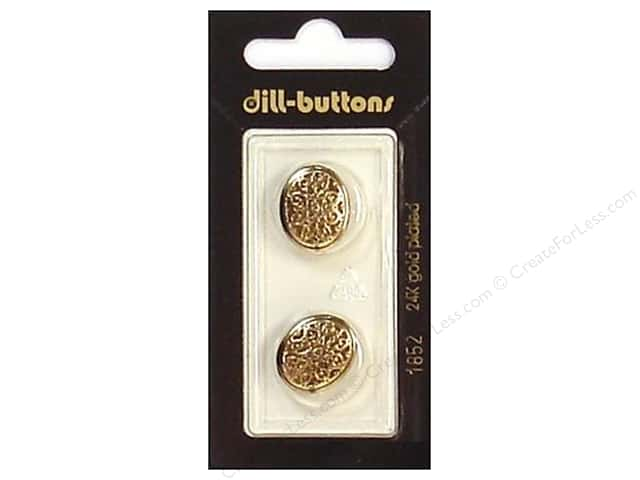 Dill Shank Buttons 11/16 in. Antique Gold #1852 2pc.