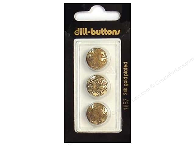 Dill Shank Buttons 9/16 in. Antique Gold #1857 3pc.