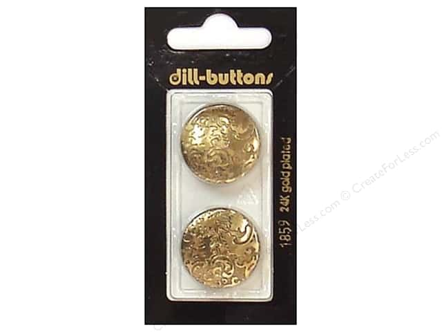 Dill Shank Buttons 7/8 in. Antique Gold #1859 2pc.