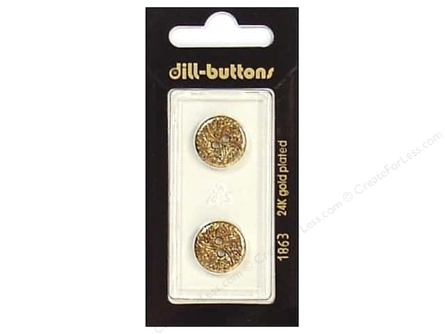 Dill 2 Hole Buttons 5/8 in. Antique Gold #1863 2pc.