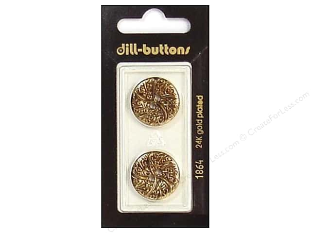 Dill Shank Buttons 13/16 in. Antique Gold #1864 2pc.