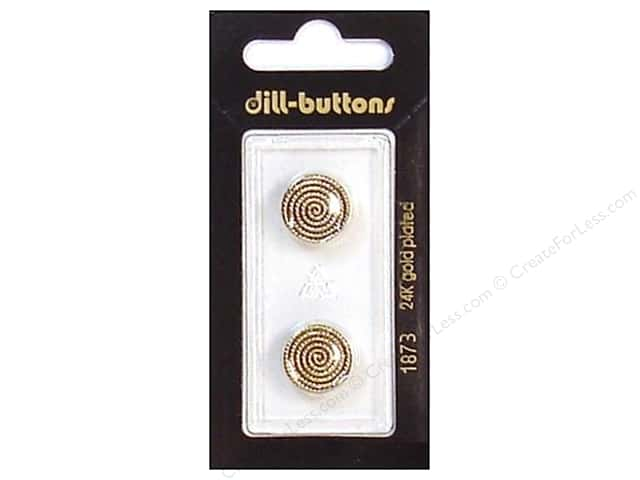 Dill Shank Buttons 9/16 in. Antique Gold #1873 2pc.