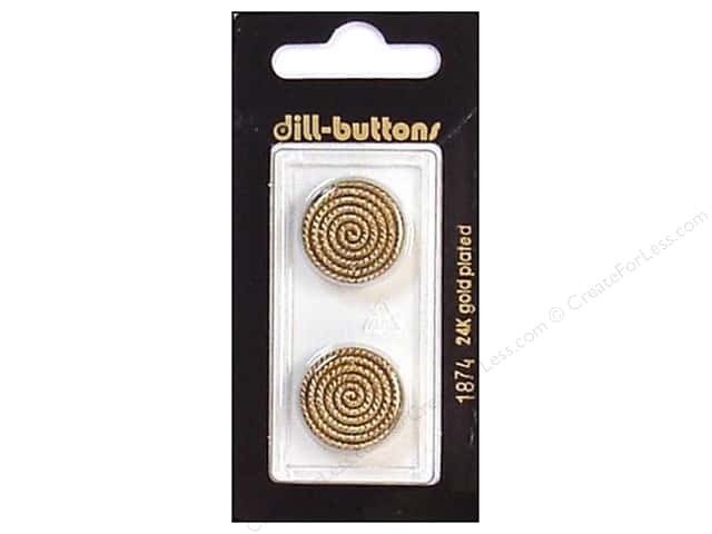 Dill Shank Buttons 3/4 in. Antique Gold #1874 2pc.