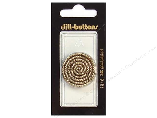 Dill Shank Buttons 1 1/8 in. Antique Gold #1876 1pc.
