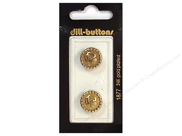 Dill Shank Buttons 5/8 in. Antique Gold #1877 2pc.