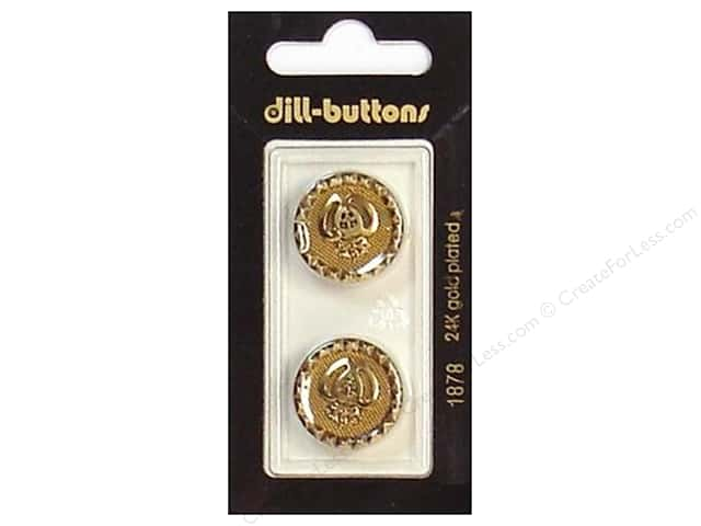 Dill Shank Buttons 13/16 in. Antique Gold #1878 2 pc.