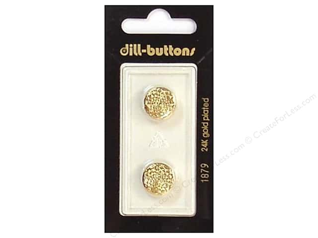 Dill Shank Buttons 9/16 in. Gold #1879 2pc.