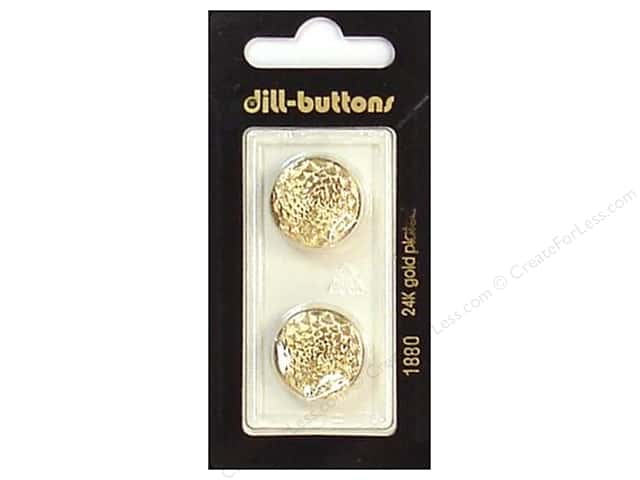 Dill Shank Buttons 11/16 in. Gold #1880 2 pc.