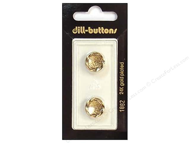Dill Shank Buttons 9/16 in. Antique Gold #1882 2pc.